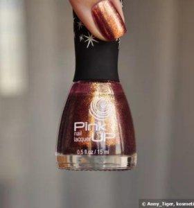 Лак для ногтей Pink UP 01 bright crystal