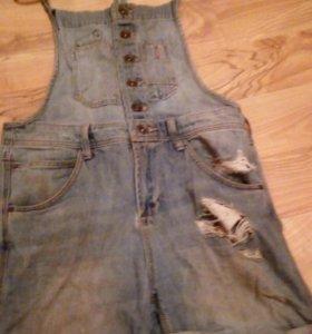 Модный комбинезон джинсовый