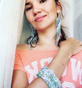 Комплект Бисерный браслет и серьги