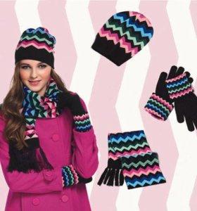 """Шапка, шарф и перчатки """"Зигзаг"""""""