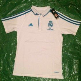 👕Футболка поло Adidas⚽️с символикой Реал Мадрид