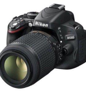 Фотоаппарат Nikon d5100 с двумя объективами