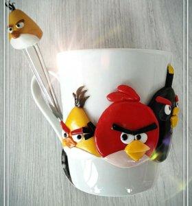 Кружка и ложка Angry Birds
