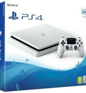 Sony PlayStation 4 Slim 500Gb Белая. (Новая)
