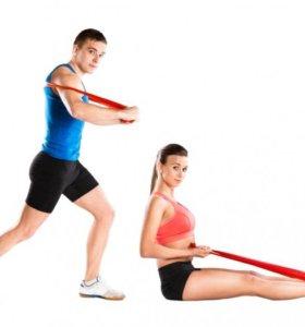 Лента для фитнеса 2.5 метра средняя нагрузка.