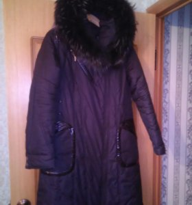 Балонь.утеплен.пальто нат.мех