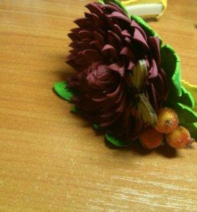 Резинки и ободки из фоамирана ручной рабоьы