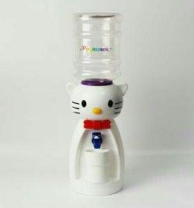 Детский кулер Родничок Кошка белая