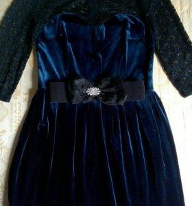 Продам бархатные платье
