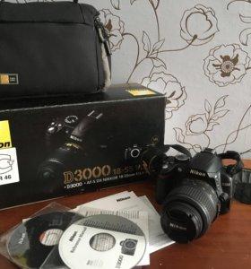 Цифровая зеркальная камера Nikon D3000 kit