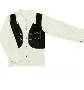 рубашка детская интерлок с вышивкой