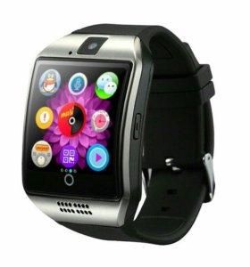 Умные Смарт часы smart watch q 18 silver