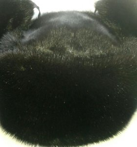 Норковая шапка-ушанка