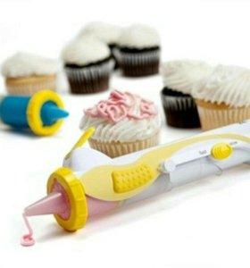 Электрошприц для украшения тортов frosting deco PE