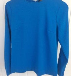 Новая блуза насыщенного синего цвета