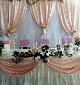 Задник, скатерть на свадьбу