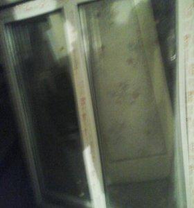 ПВХ Дверь .и два окна
