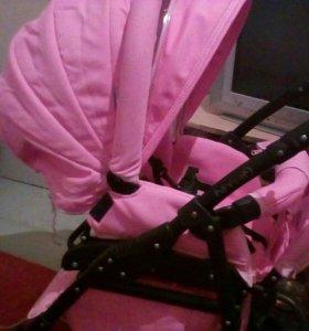 Коляска розовая