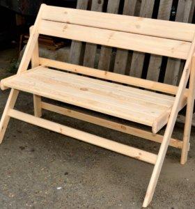 Скамейка складная деревянная