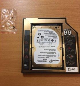 """Адаптер HDD/SSD 2.5"""" 12.7 мм в ноутбук вместо DVD"""