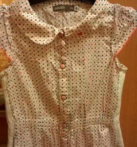 Блуза-Рубашка + юбка на 5-6 лет