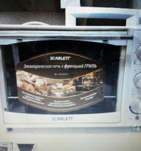 Электрическая печь с грилем