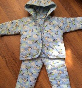 Куртка и брюки на мальчика ,утеплённые .