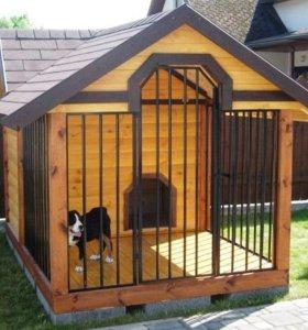 Изготовление вольеров для собак, строительство