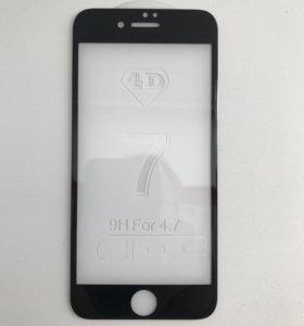 Стекло 4D для IPhone 7,6.