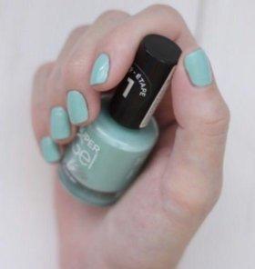 гель лак rimmel super gel nail polish, мятный