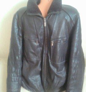Кожаная 48-50р.куртка,натур.кожа и мех
