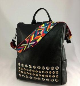 Рюкзак -сумка (трансформер) натуральная кожа