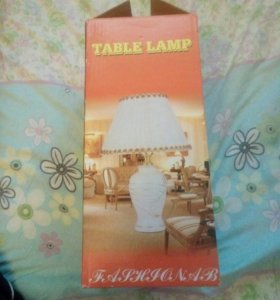 Лампа настольная керамическая.