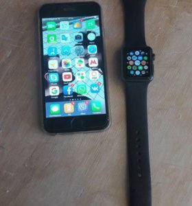 iphone 6 128Gb + Apple Watch sport 38mm