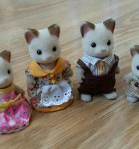 Sylvanian Families набор Семья кошек