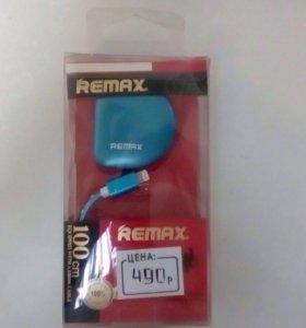 Кабель + адаптер оригинальный Remax для iPhone