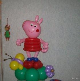 свинка  из шаров.Гелиевые шары от 20 р.
