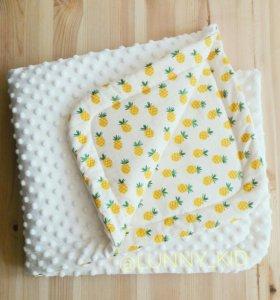 Конверт на выписку, одеяло, детский плед