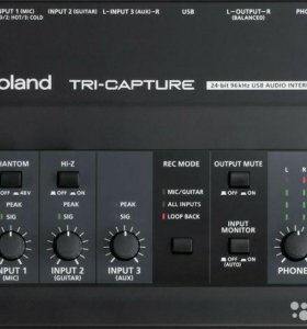 Внешняя звуковая карта с USB Roland TRI-capture