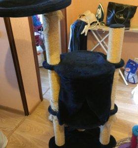 Домик для кошек, лоток и наполнители