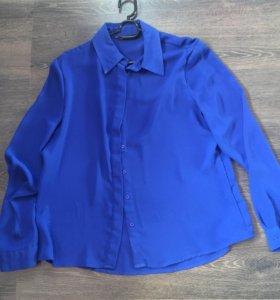 Блузка/рубашка синяя👕