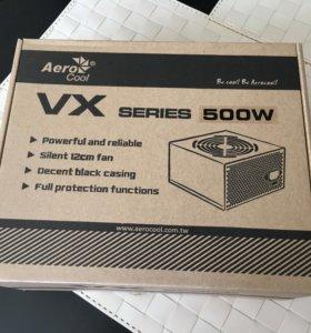 Блок питания Aerocool vx-500, 500Вт