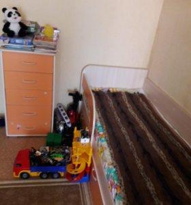 Продается детская мебель ( кровать+камод)