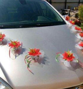 Украшение на свадебную машину.