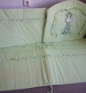 Бортики Жираф в детскую кроватку