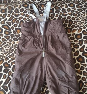Теплые брюки (полукомбез