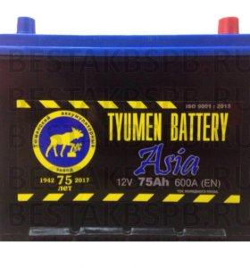 Аккумулятор автомобильный Tyumen Asia 75 ah а/ч
