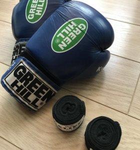 Боевые перчатки для бокса Green Hill
