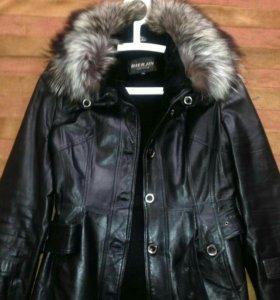 Продам зимнию кожаную куртку