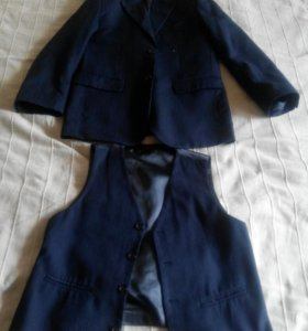 Пиджак и жилетка школьная